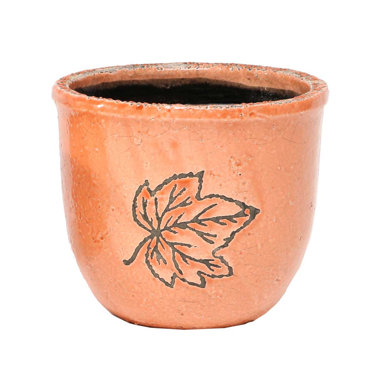 "Leaf Cache Pot Clay 5.5""x6"" A2069 CL v22"