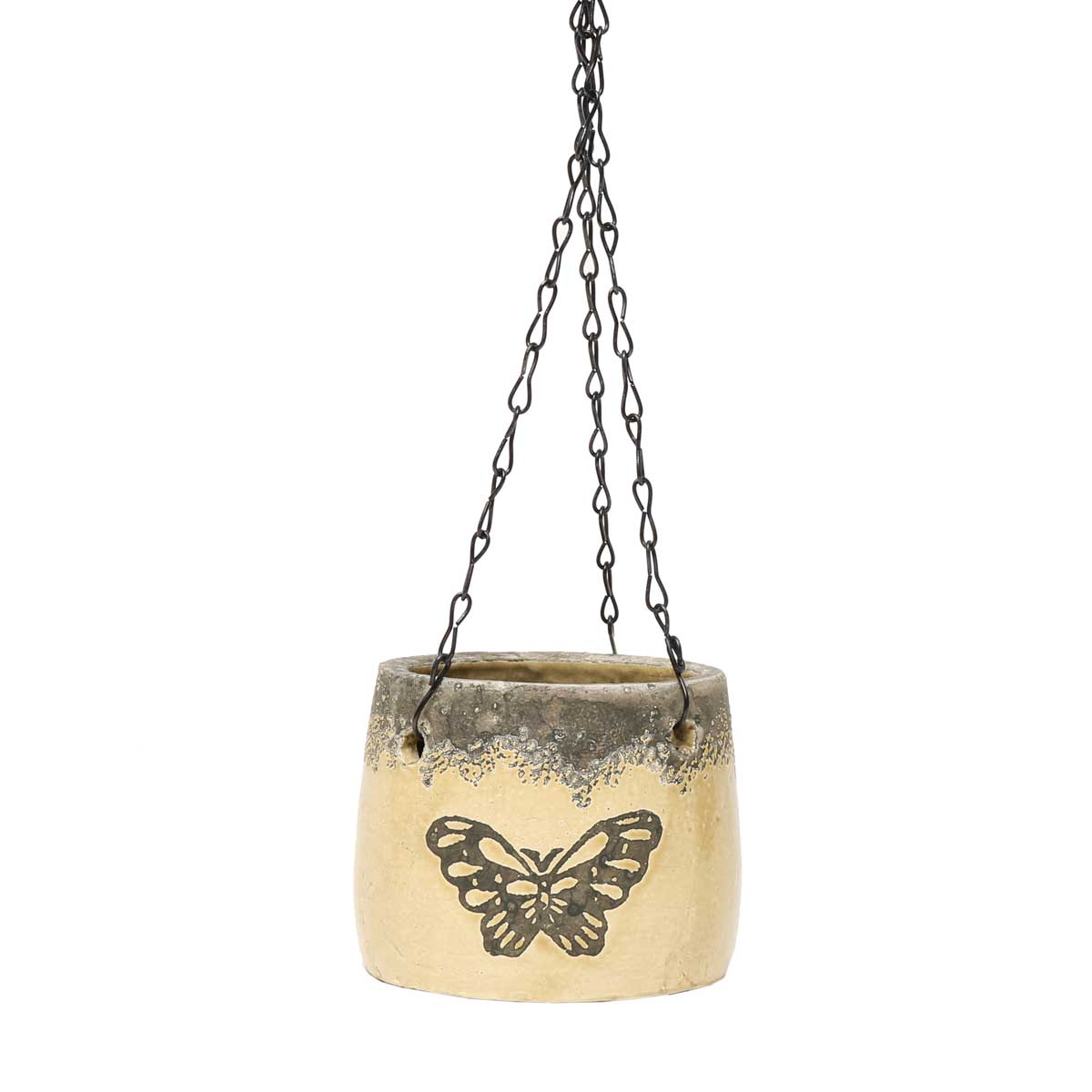 "BUTTERFLY HANGING POT 4""X4"" WITH 10"" CHAIN"