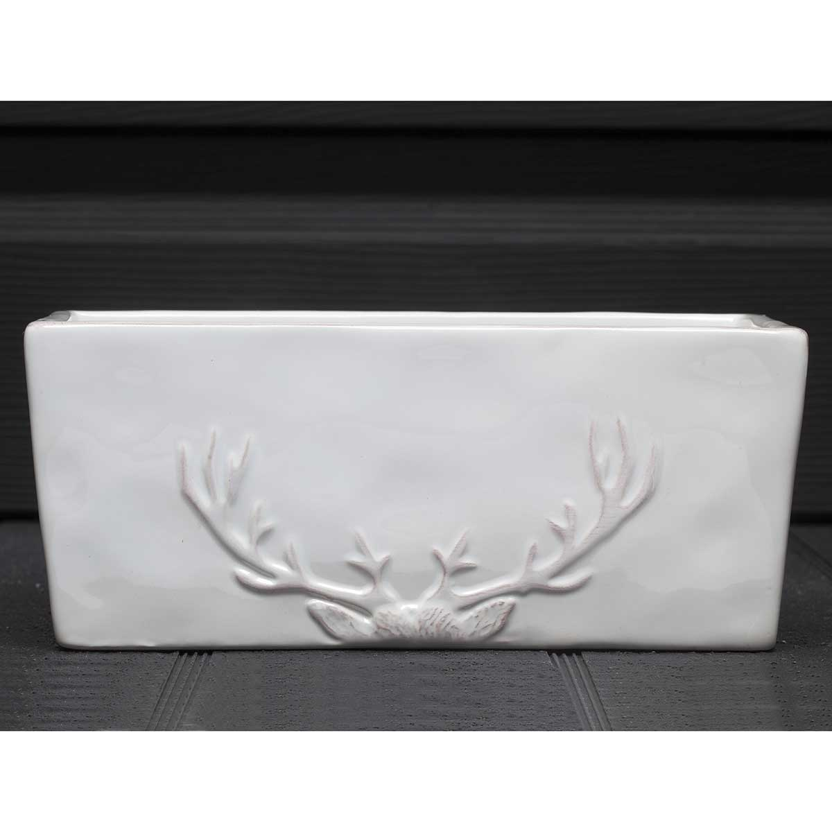 "WHITE STAG RECTANGULAR BOWL 8.5""X3.5""X4"" v22"