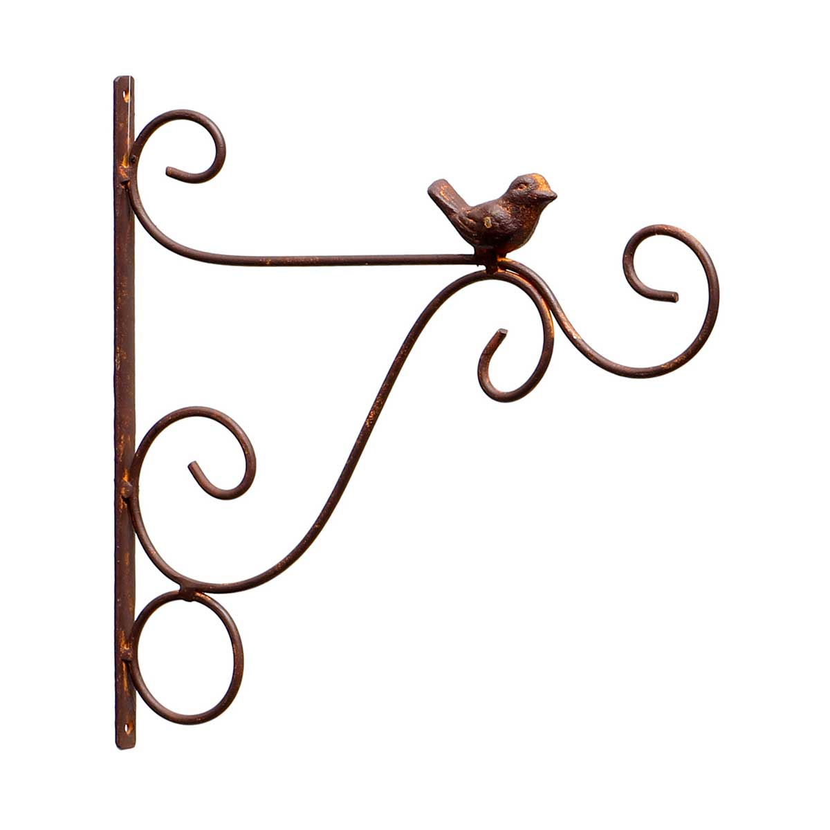 "METAL BIRD AND SCROLL HANGER 11.5""x.5""x11.75"""