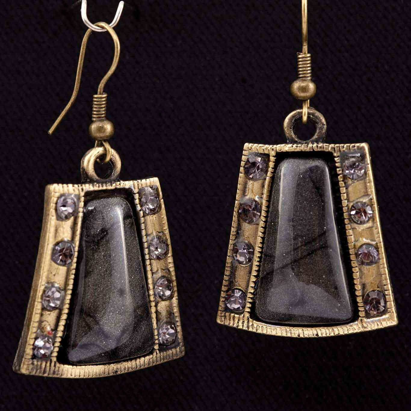 "Casablanca 2"" French Wire Earrings In Dove Gray"