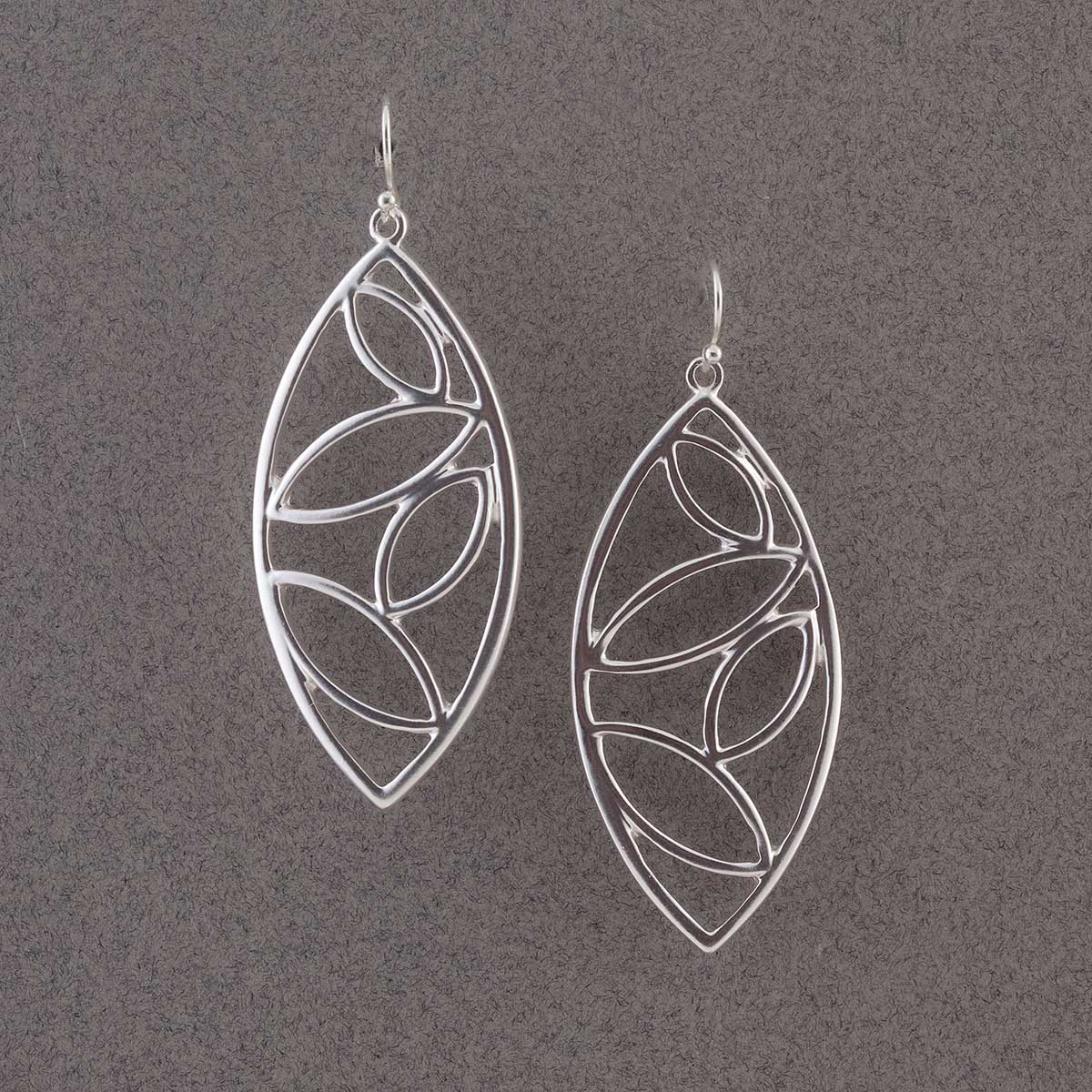 Silver Multi Oval Earrings 50sp