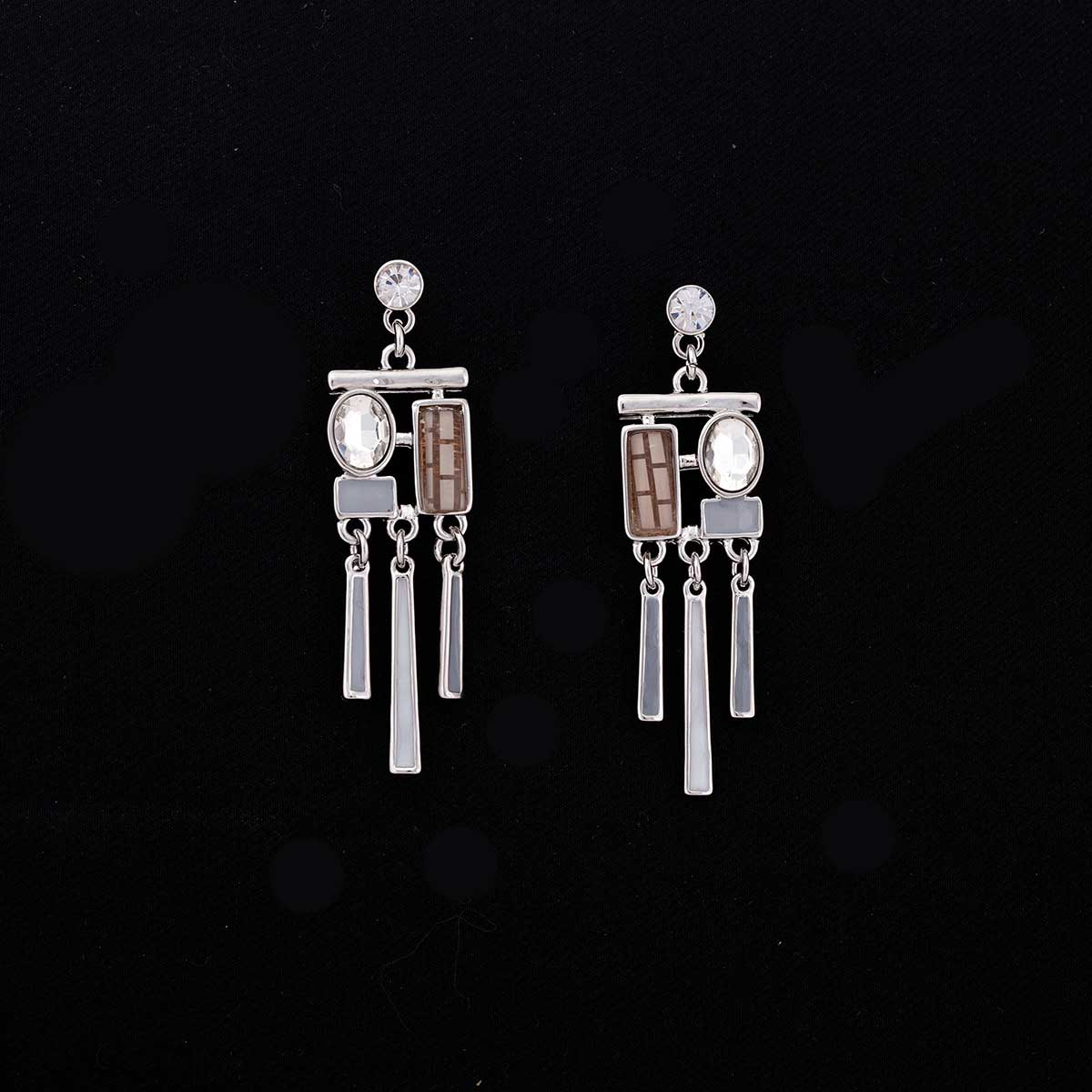 GY STONE EARRING SILVER