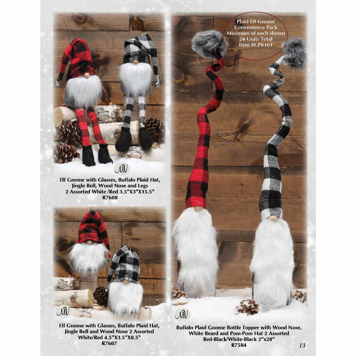 BUFFALO PLAID ELF GNOME CONVENIENCE PACK 24 UNITS
