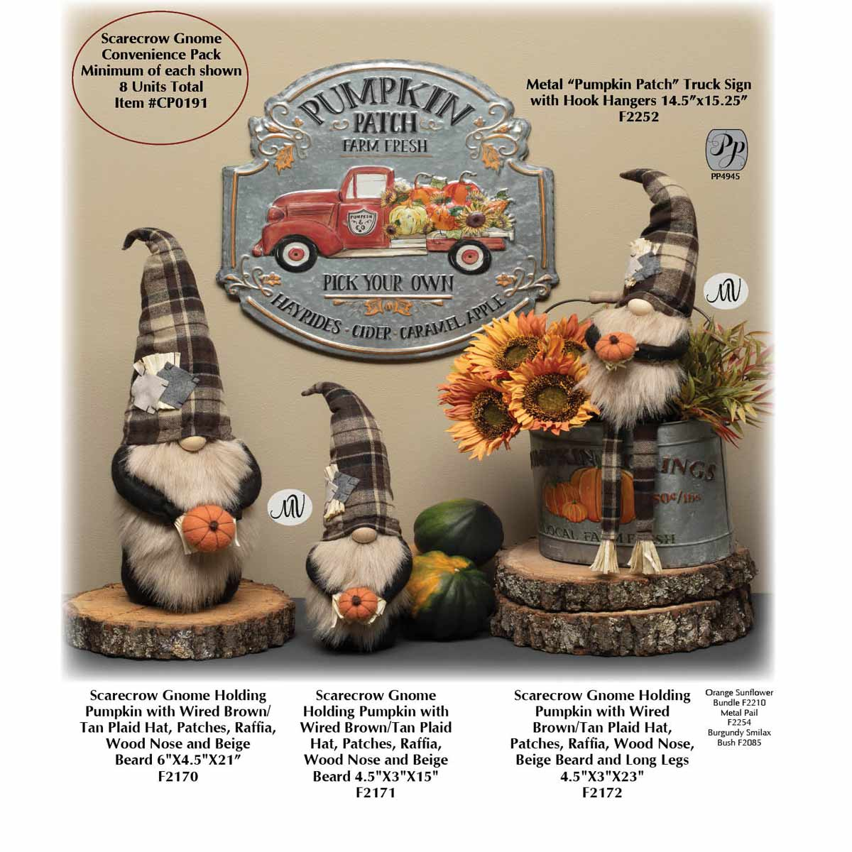 SCARECROW GNOME CONVENIENCE PACK 8 UNITS CP0191