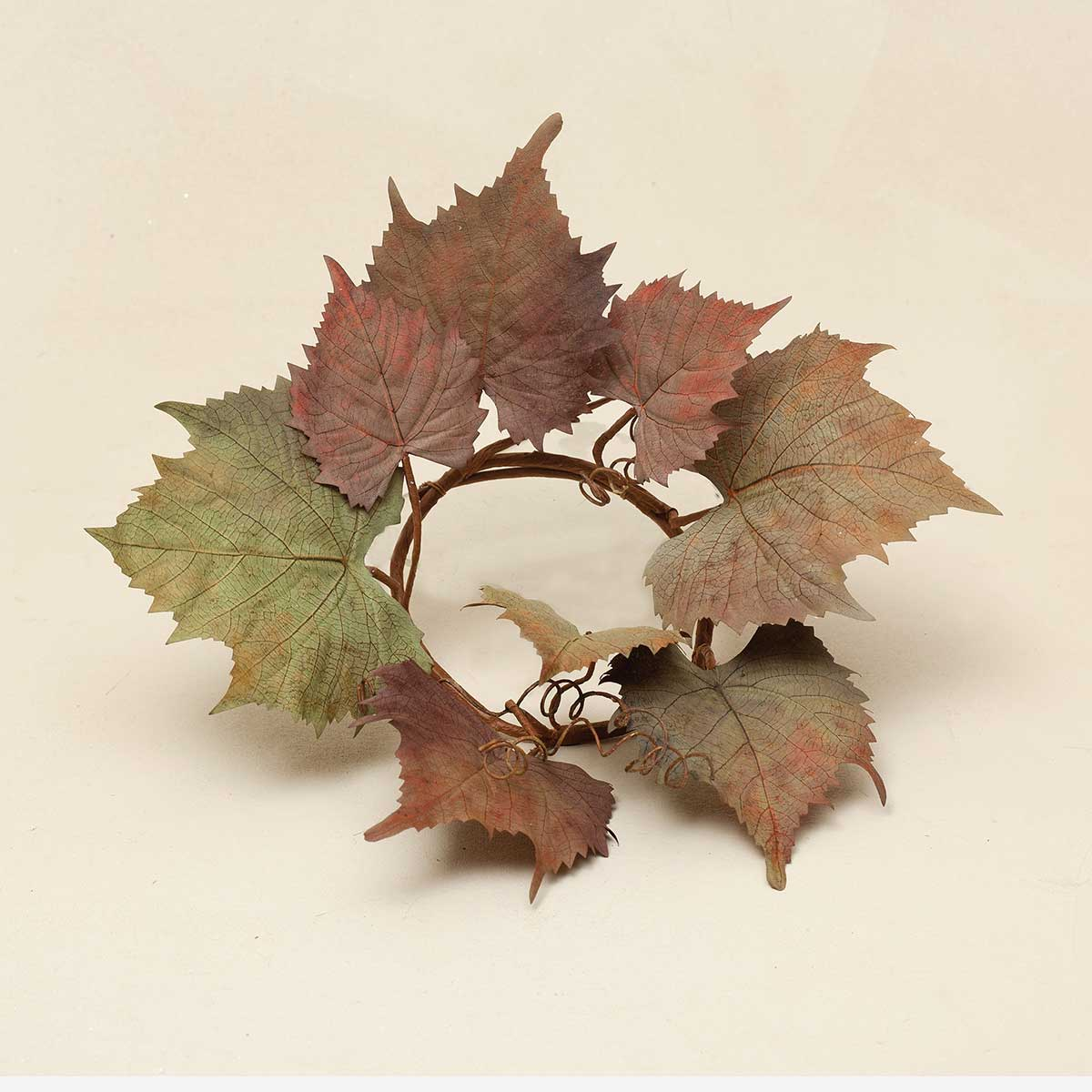 GRAPE LEAF CANDLE RING