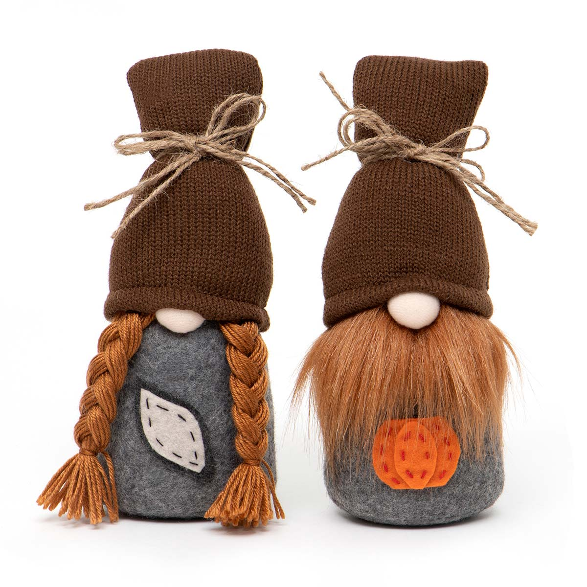FALL HARVEST COUPLE GNOME WITH BROWN SWEATER
