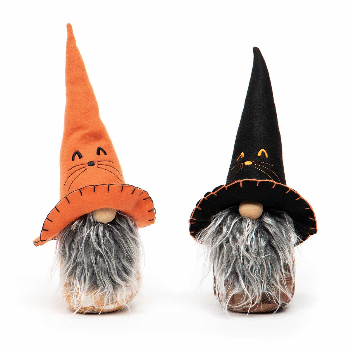 BINX HALLOWEEN GNOME ORANGE/BLACK WITH EMBROIDERED CAT