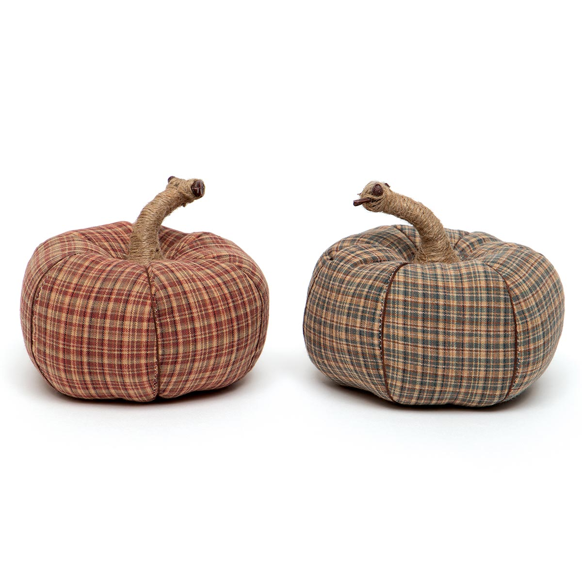 FALL FEST PLAID PLUSH PUMPKIN BROWN/RED WITH TWINE