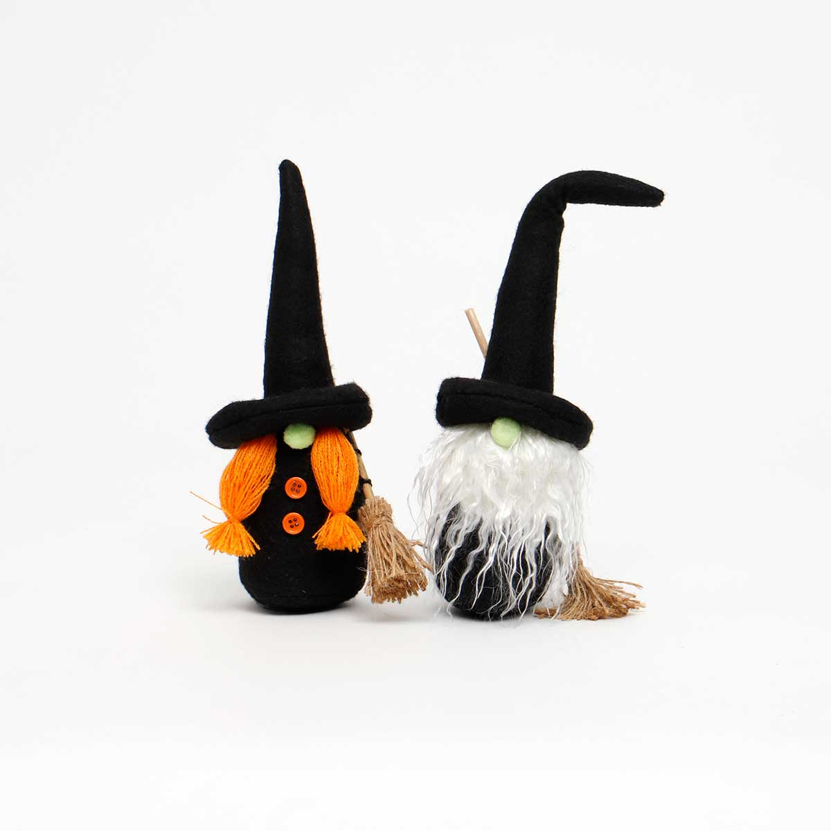 WITCH GNOME WITH BROOM