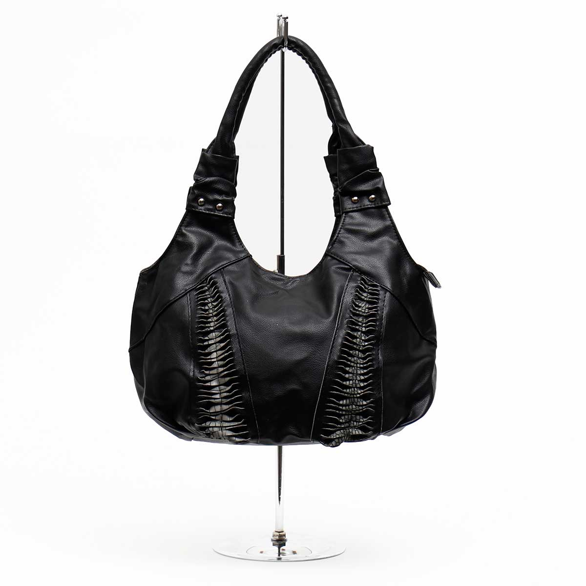 Dundee Bag with Double Twill Black with Gray Crocodile *70sp