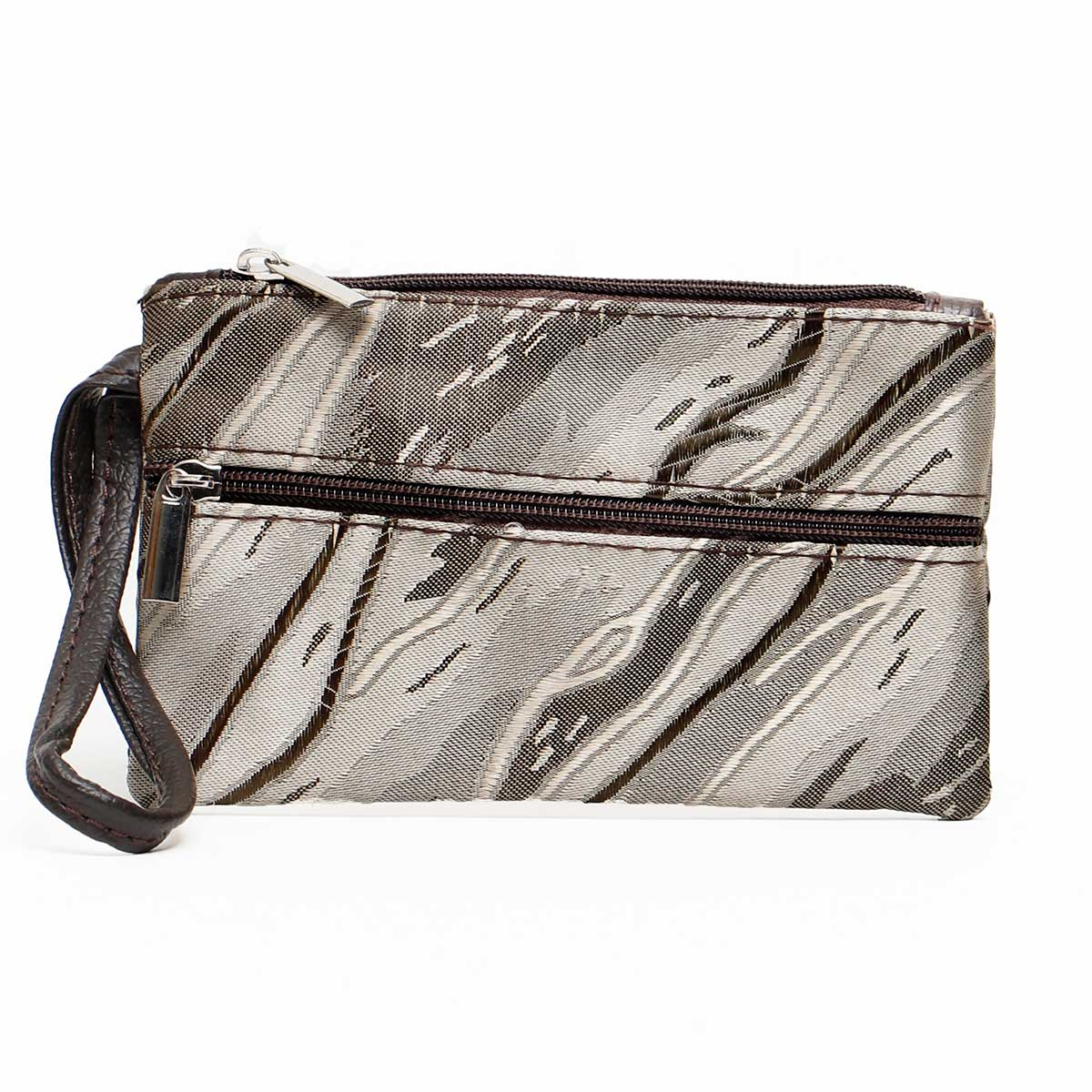 CHAMPAGNE RIVER COIN/CARD PURSE 3 ZIPPERS