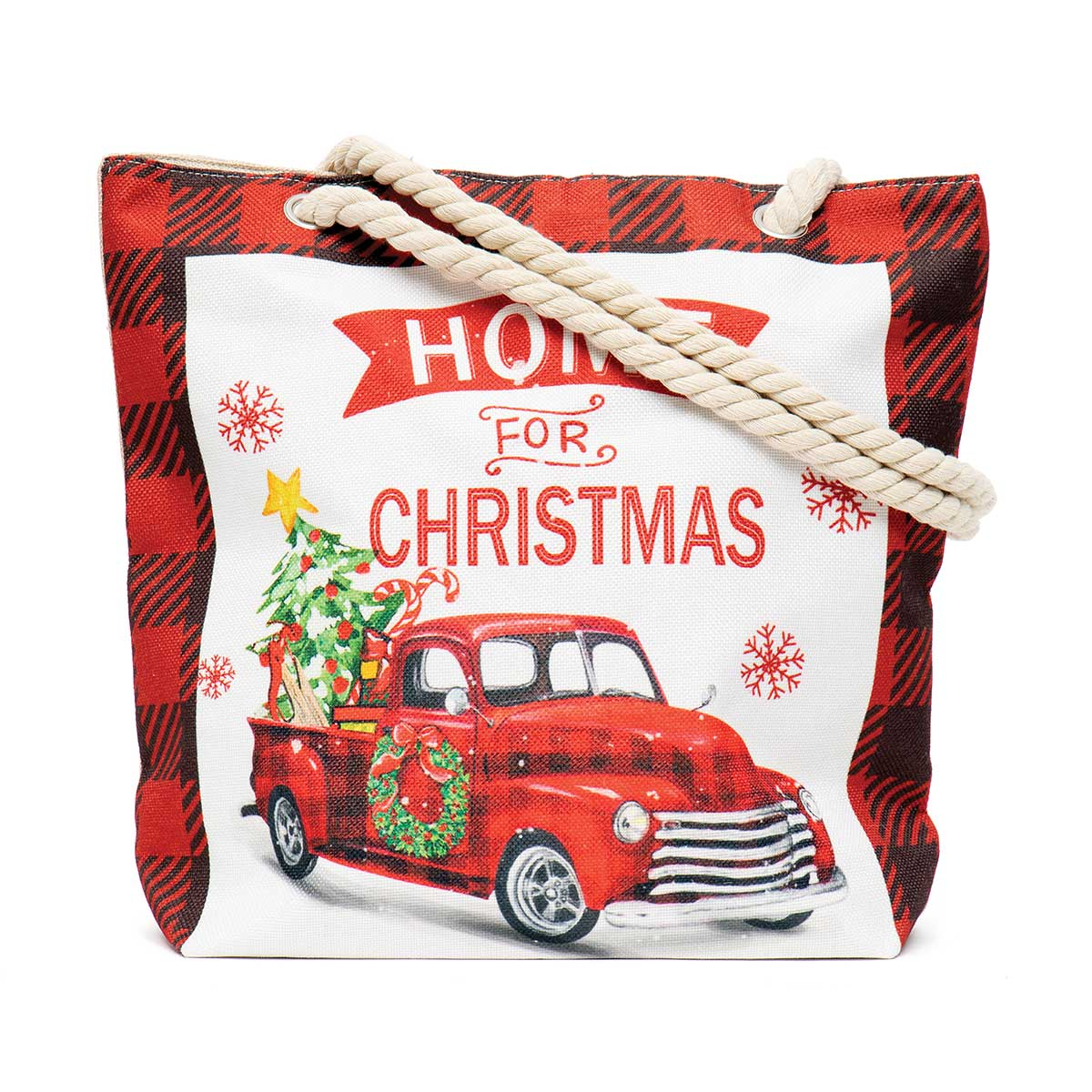 Home for Christmas Truck Tapestry Bag ff10