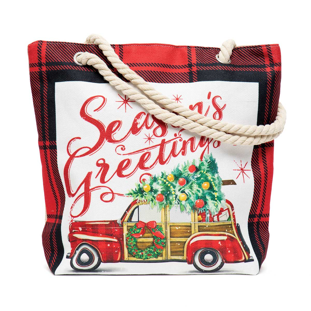 Seasons Greetings Car Tapestry Bag ff10