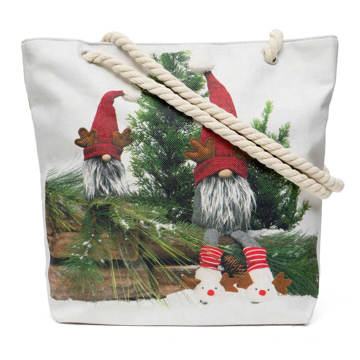 Reindeer Gnome Friends Tapestry Bag ff10