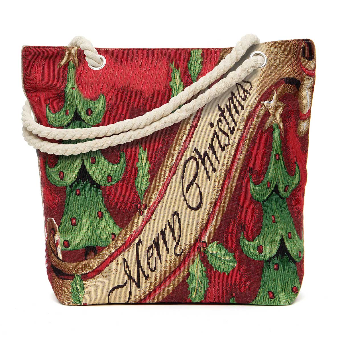 Merry Christmas Tapestry Bag