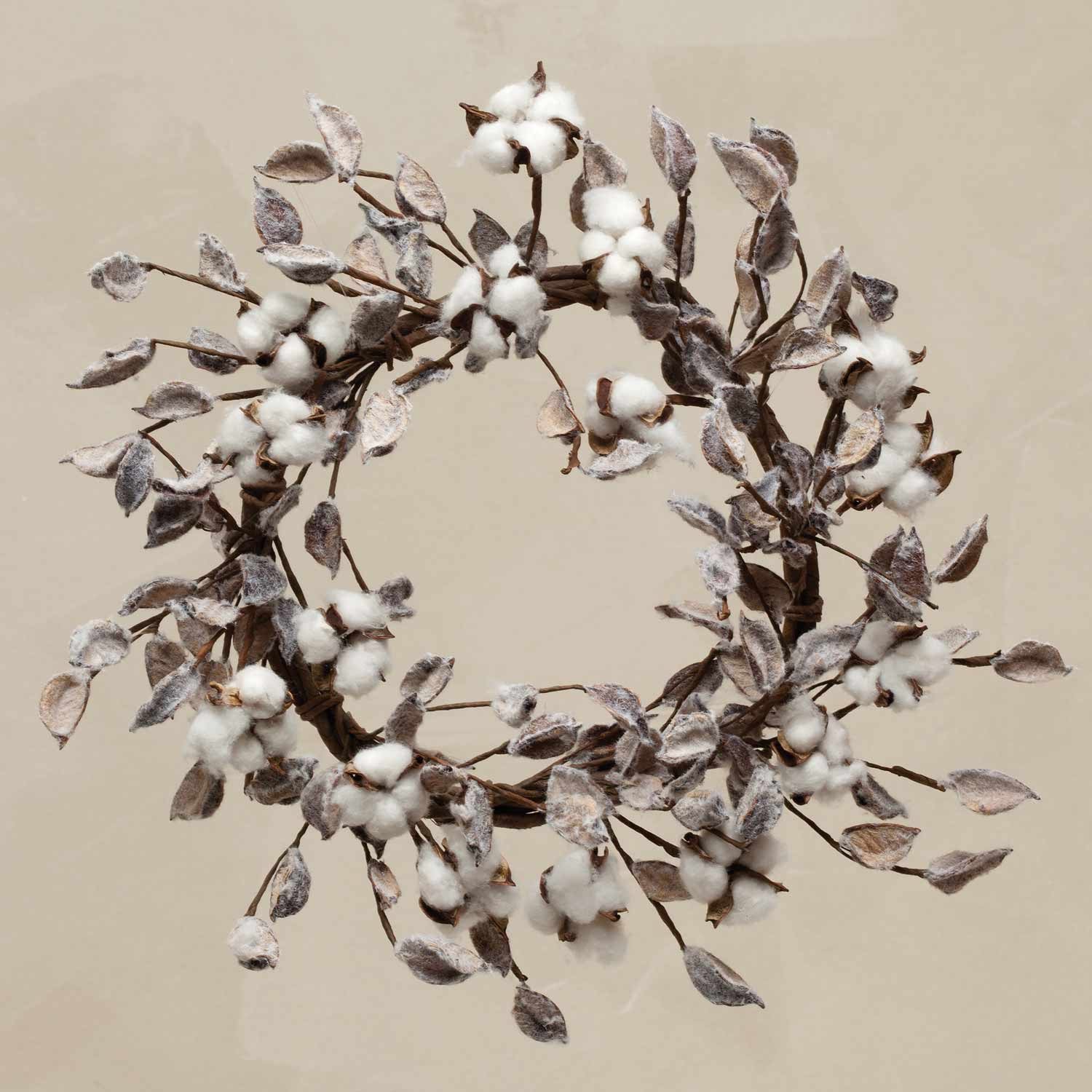 "Southern Cotton 18"" Wreath"