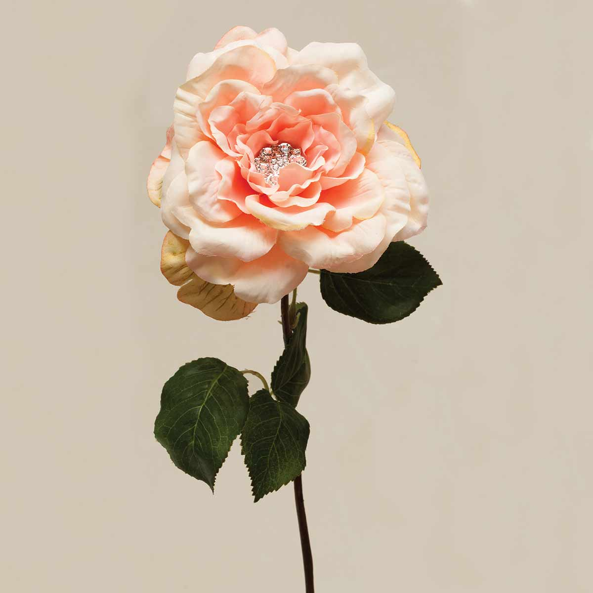 "GALA ROSE WITH GEM CENTER 5""X22"" PEACH v22"