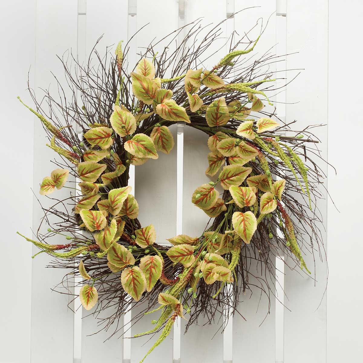 "Meadow Coleus Oval Wreath 27""(Inner Ring 10"") v22"