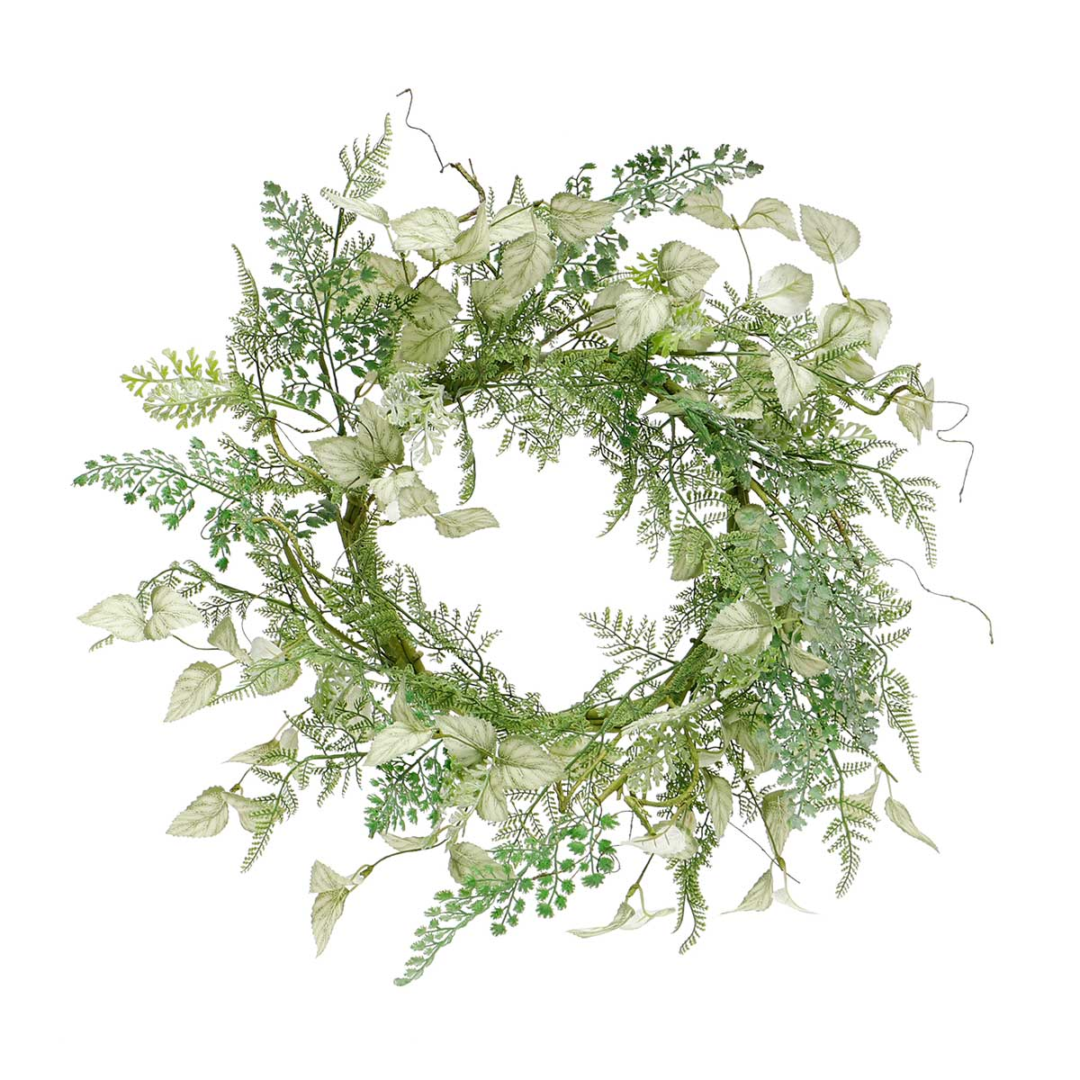 "LAUREL MIXED FOLIAGE WREATH 21.5"" (INNER RING 10"")"