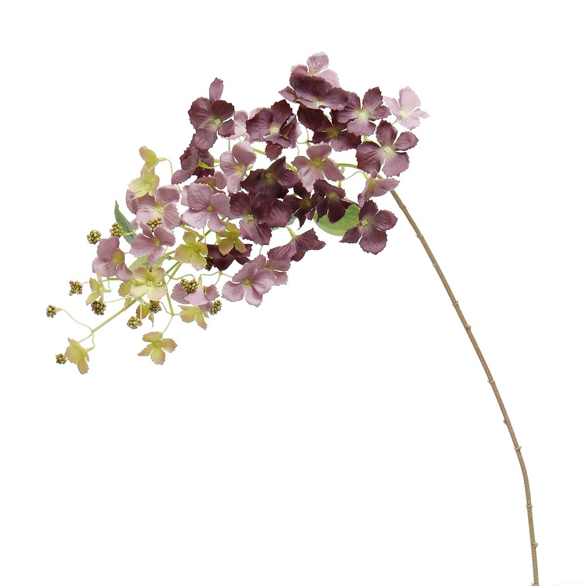 "HANGING HYDRANGEA SPRAY 6""X35"" PURPLE"