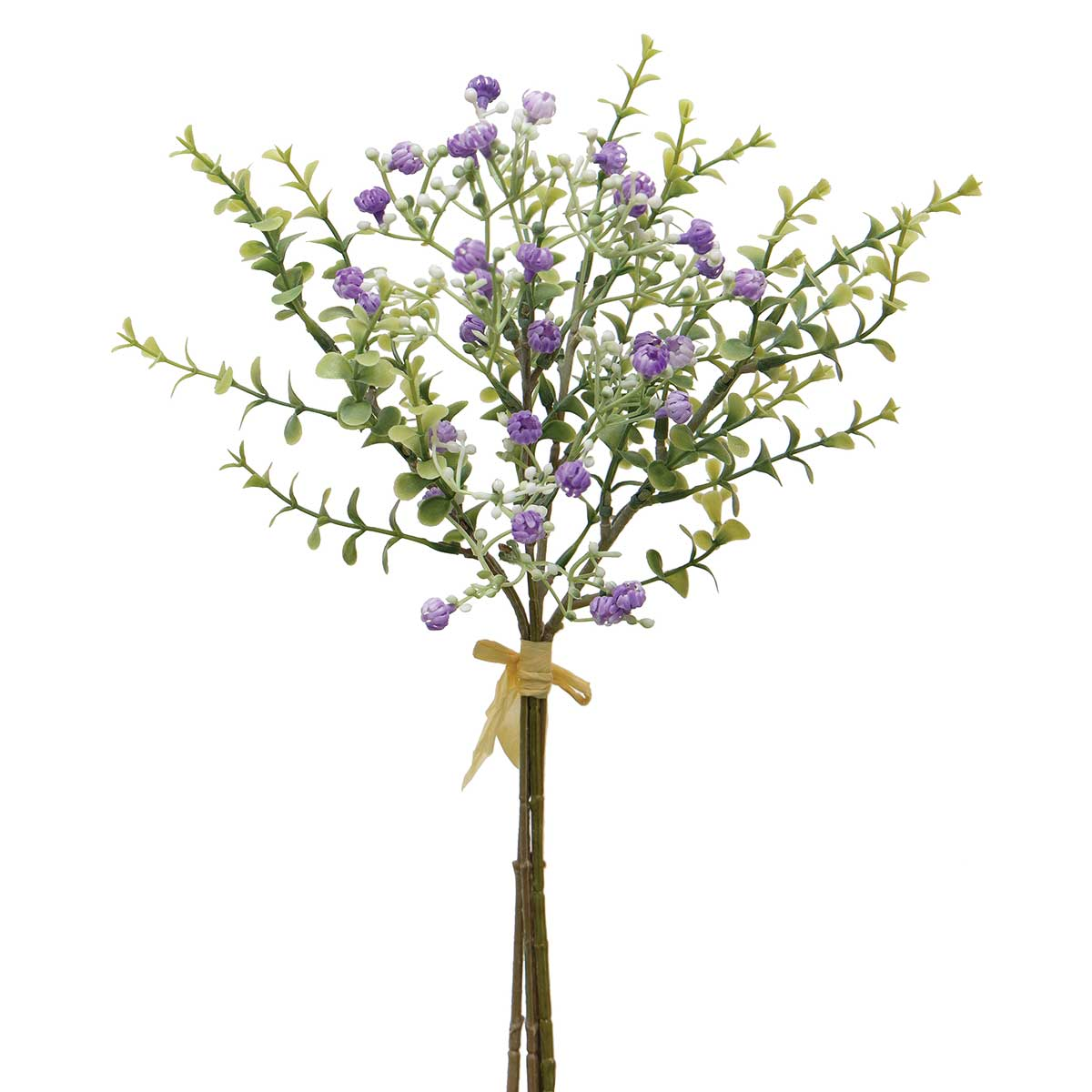 "BABY'S BREATH AND PRIVET BUNDLE OF 4 TIED WITH RAFFIA 6""x14"""