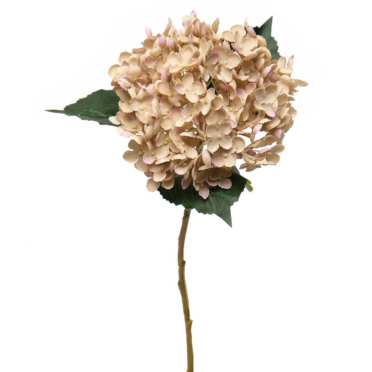 "HYDRANGEA SPRAY WITH BIG LEAVES 9.5""x8""19.5"""