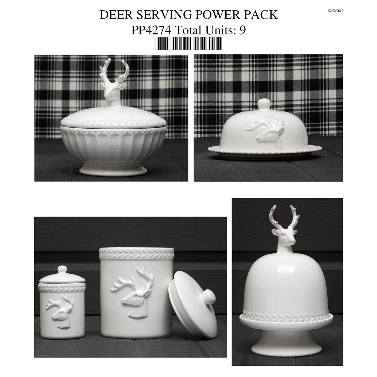 DEER CANNISTER, DISH, CLOCHE POWER PACK 9 units PP4274
