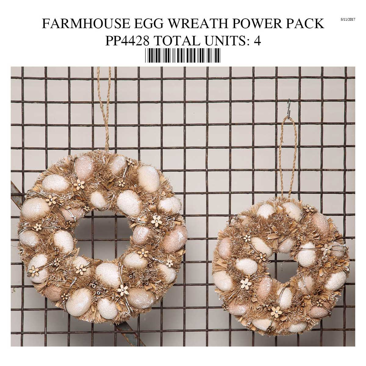 BARNYARD EGG WREATH POWER PACK PP4428
