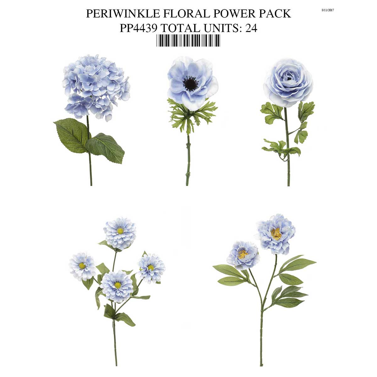 PERIWINKLE FLORAL POWER PACK PP4439