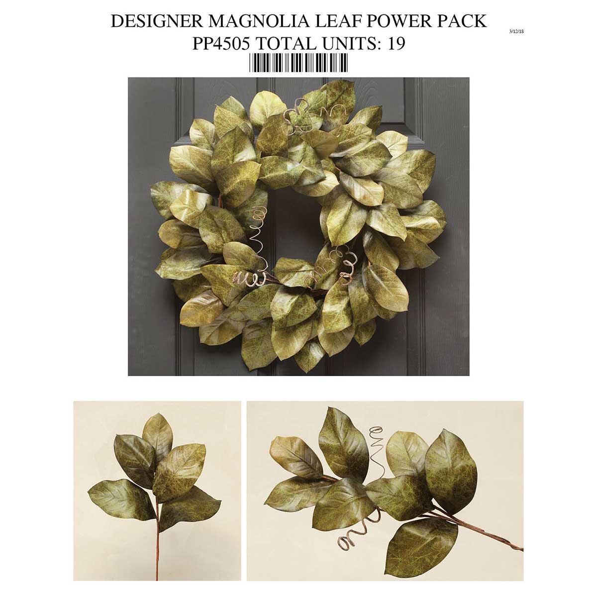 Olive Magnolia Leaf Collection Power Pack 19 Units
