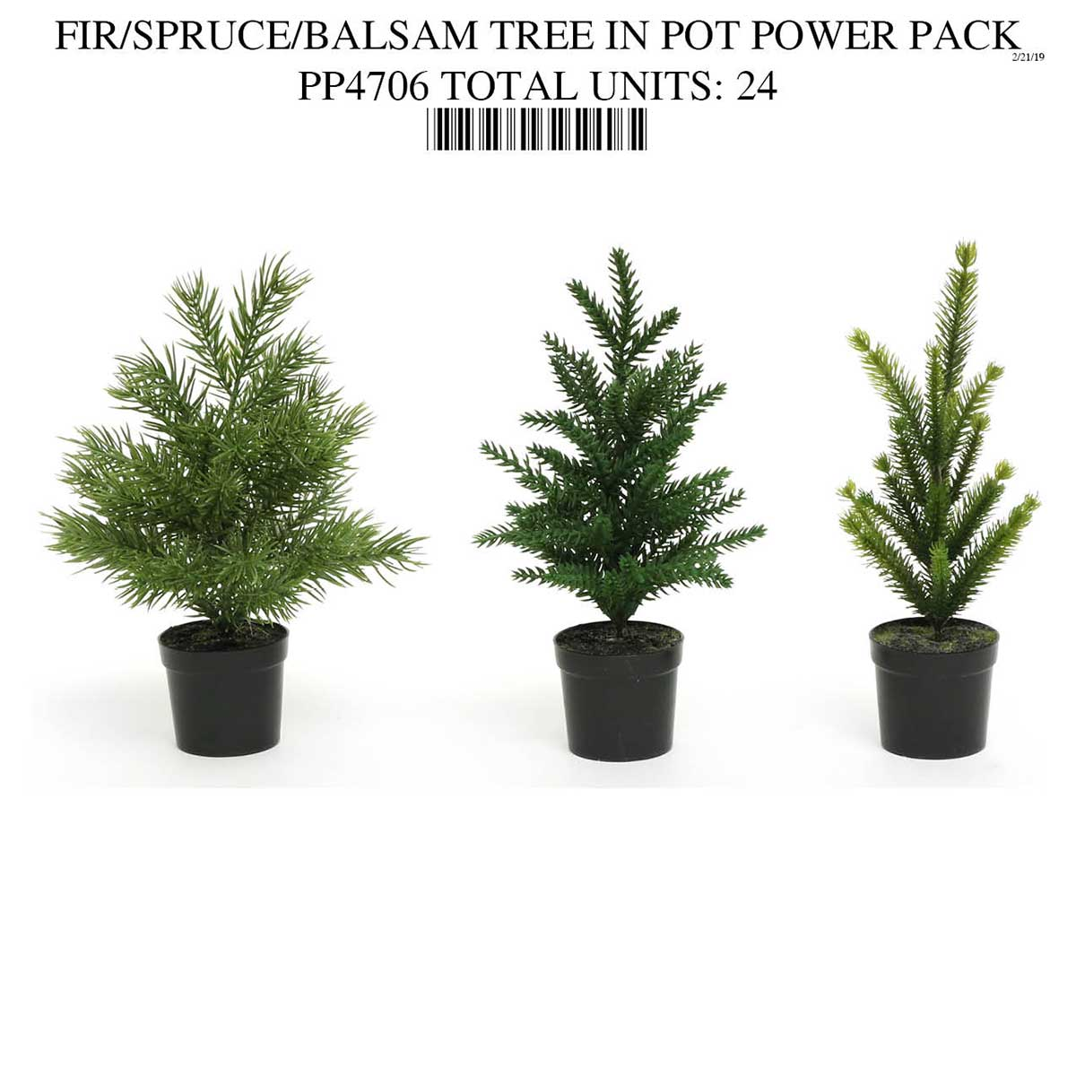 MINI TREE IN BLACK POT PP4706