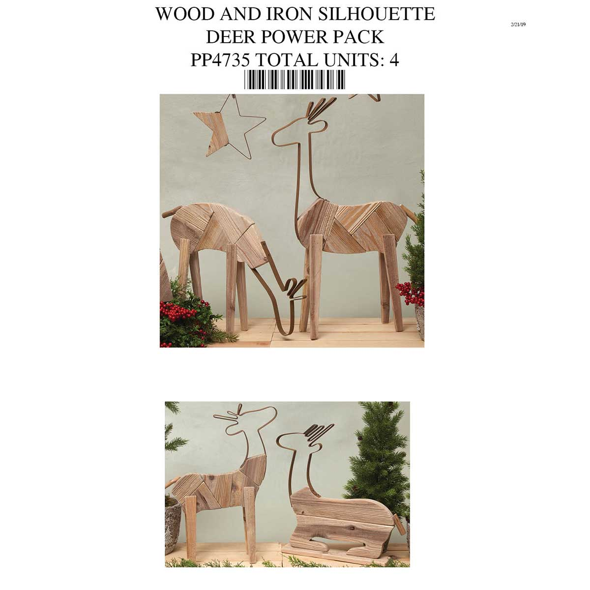 WOOD & IRON DEER POWER PACK PP4735