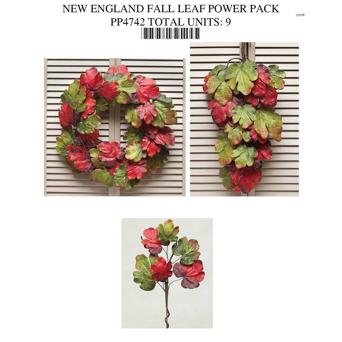 FALL LEAF COLLECTION POWER PACK PP4742