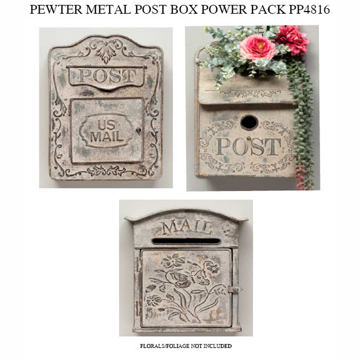 PEWTER POSTBOX POWER PACK 3 UNITS