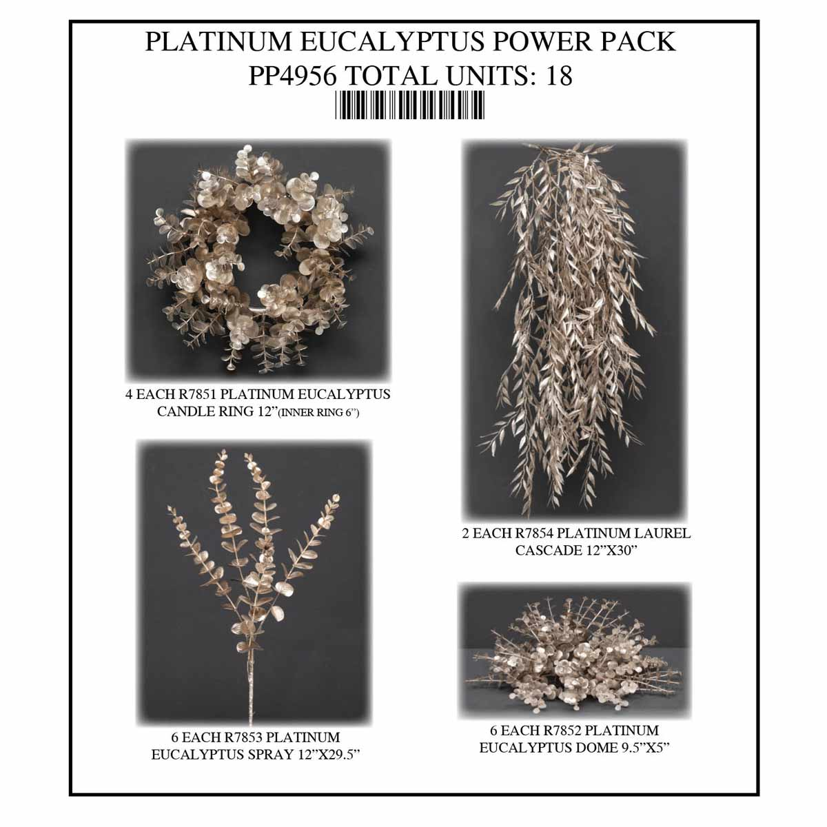 PLATINUM EUCALYPTUS POWER PACK 18 UNITS PP4956