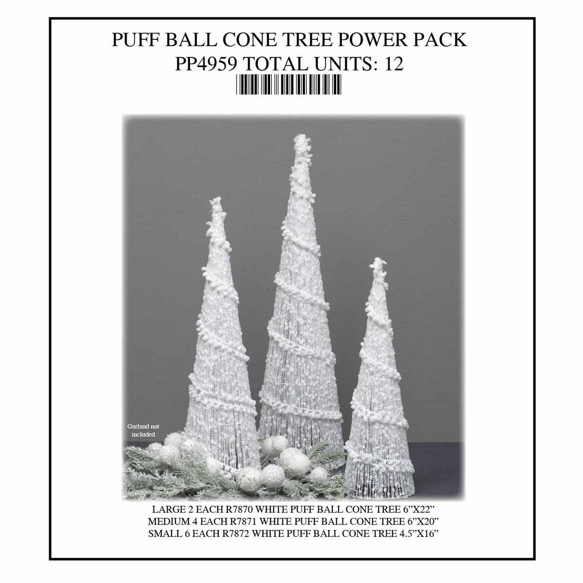 WHITE CONE TREE Power Pack 12 Units