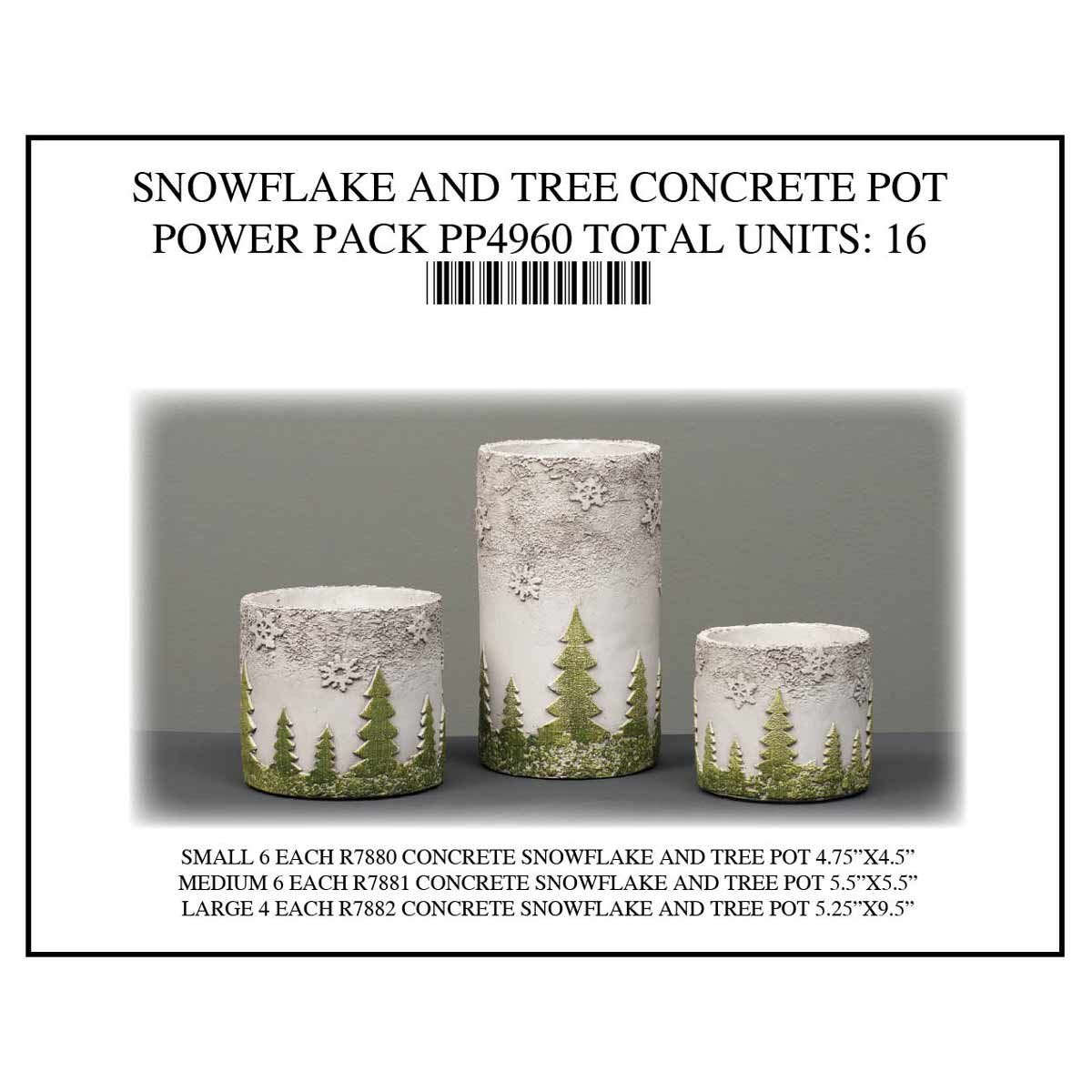 POT TREE SNOWFLAKE Power Pack 17 Units