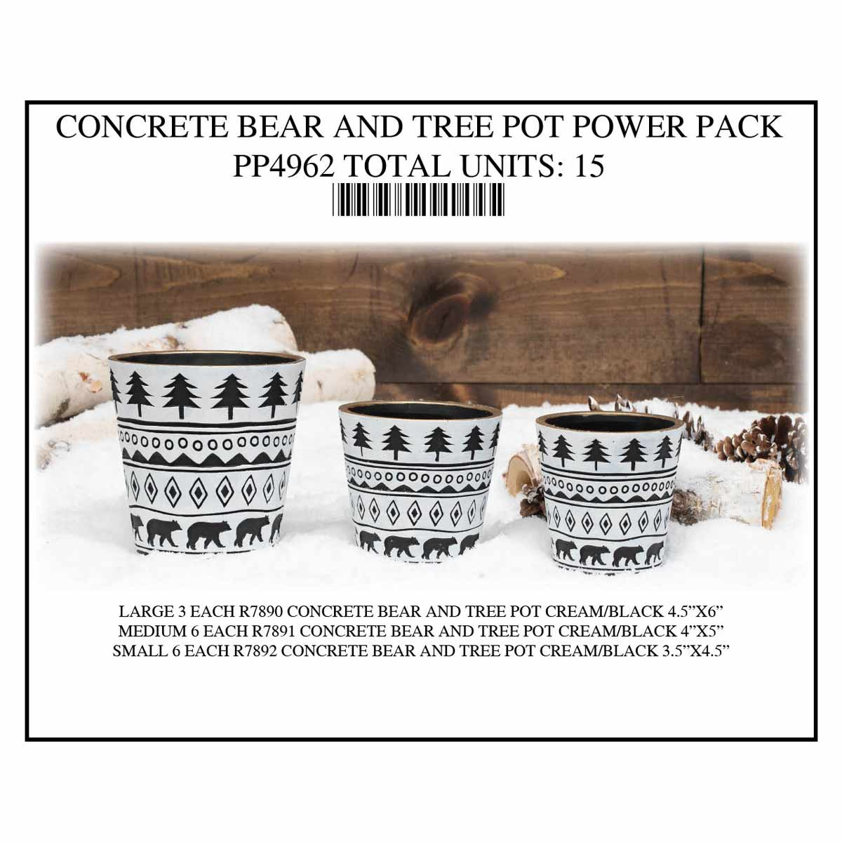 POT BEAR CREAM/BLACK POWER PACK 15 UNITS