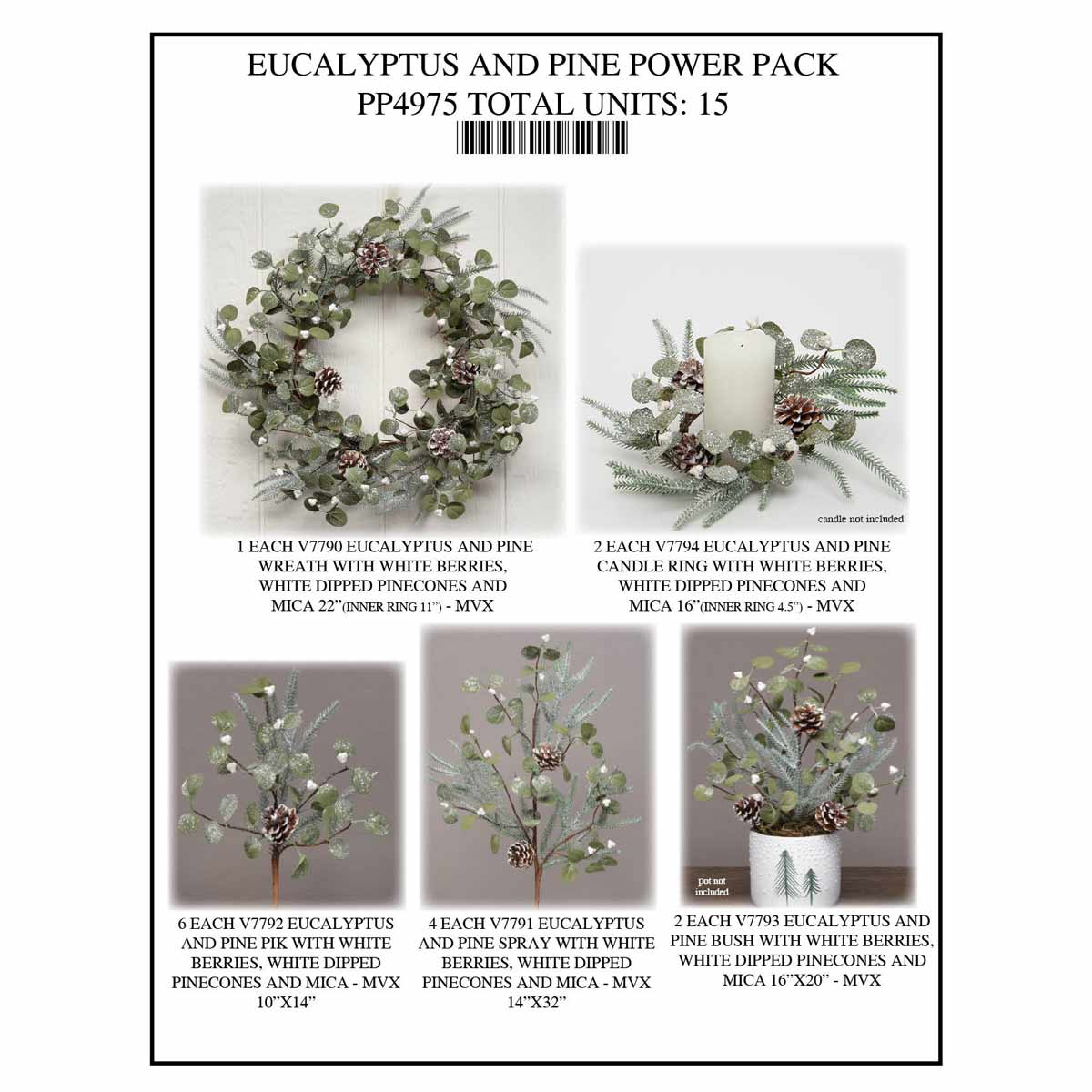 EUCALYPTUS PINE POWER PACK 15 UNITS