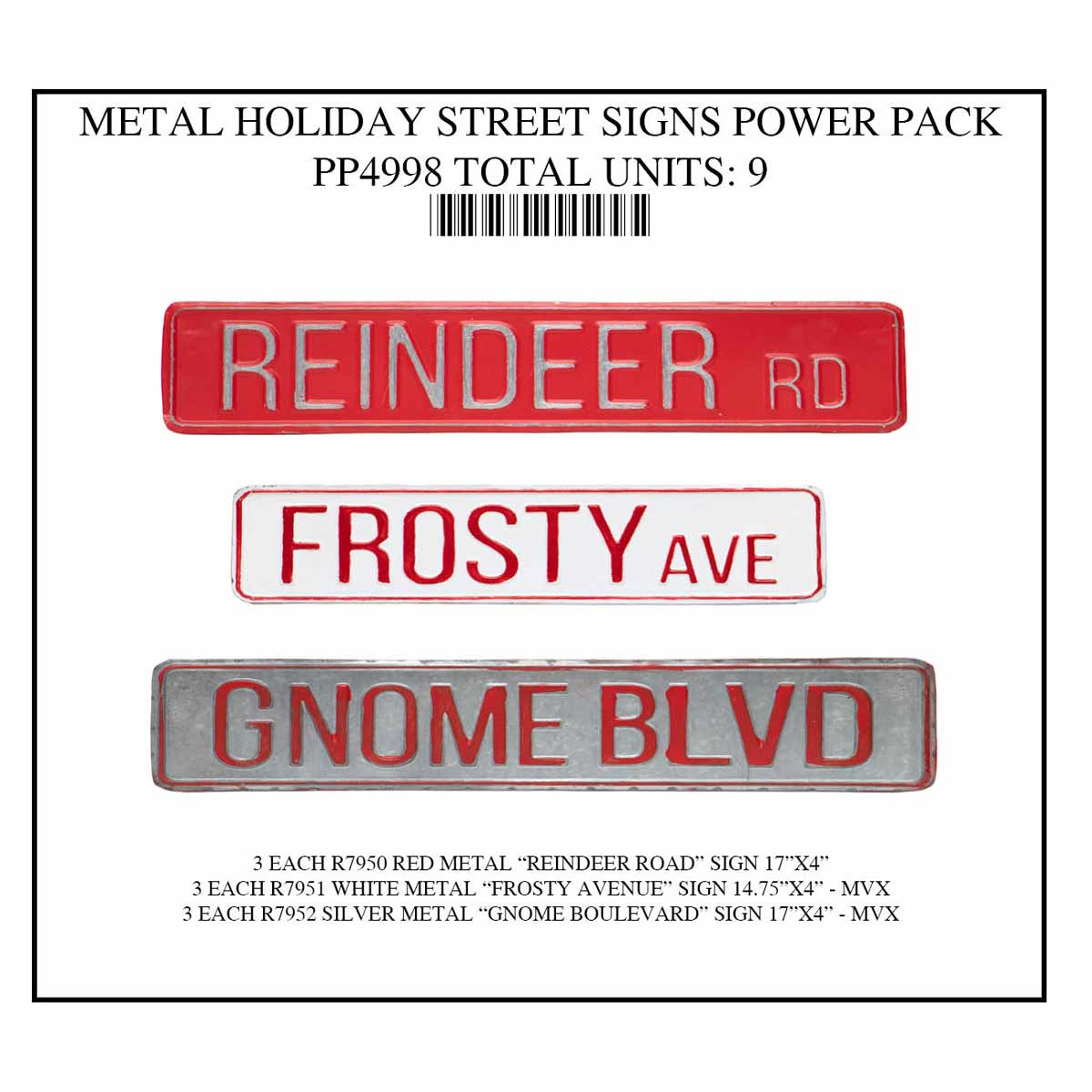 HOLIDAY STREET SIGNS POWER PACK 9 UNITS PP4998