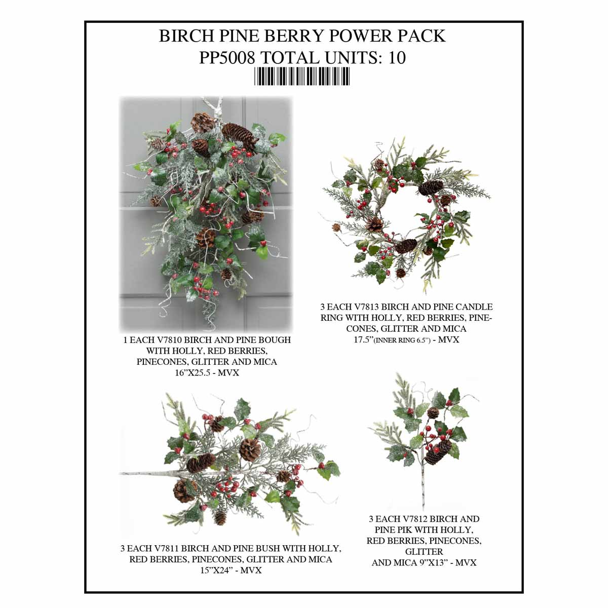 BIRCH PINE BERRY POWER PACK 10 UNITS