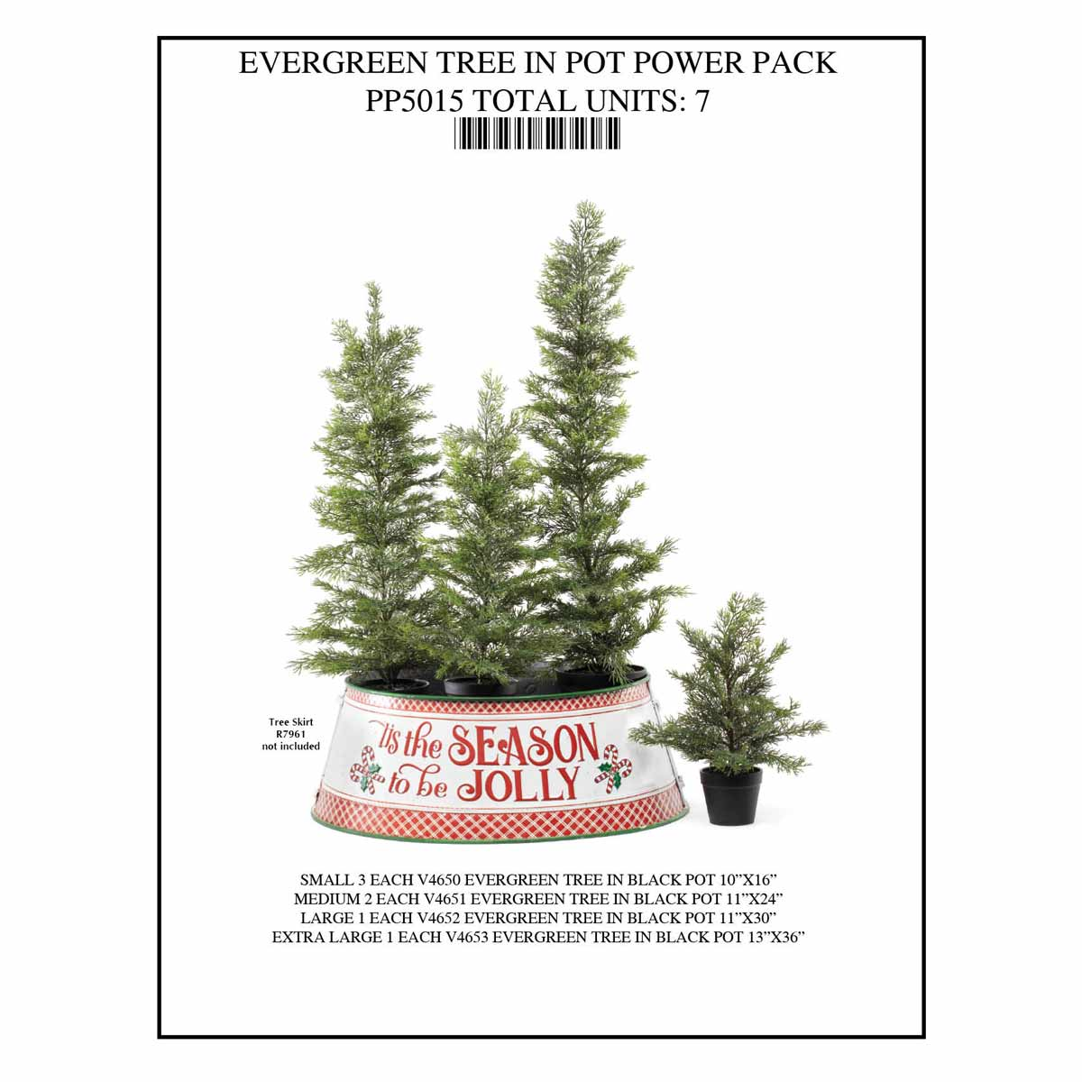 TREE IN POT Power Pack 7 Units