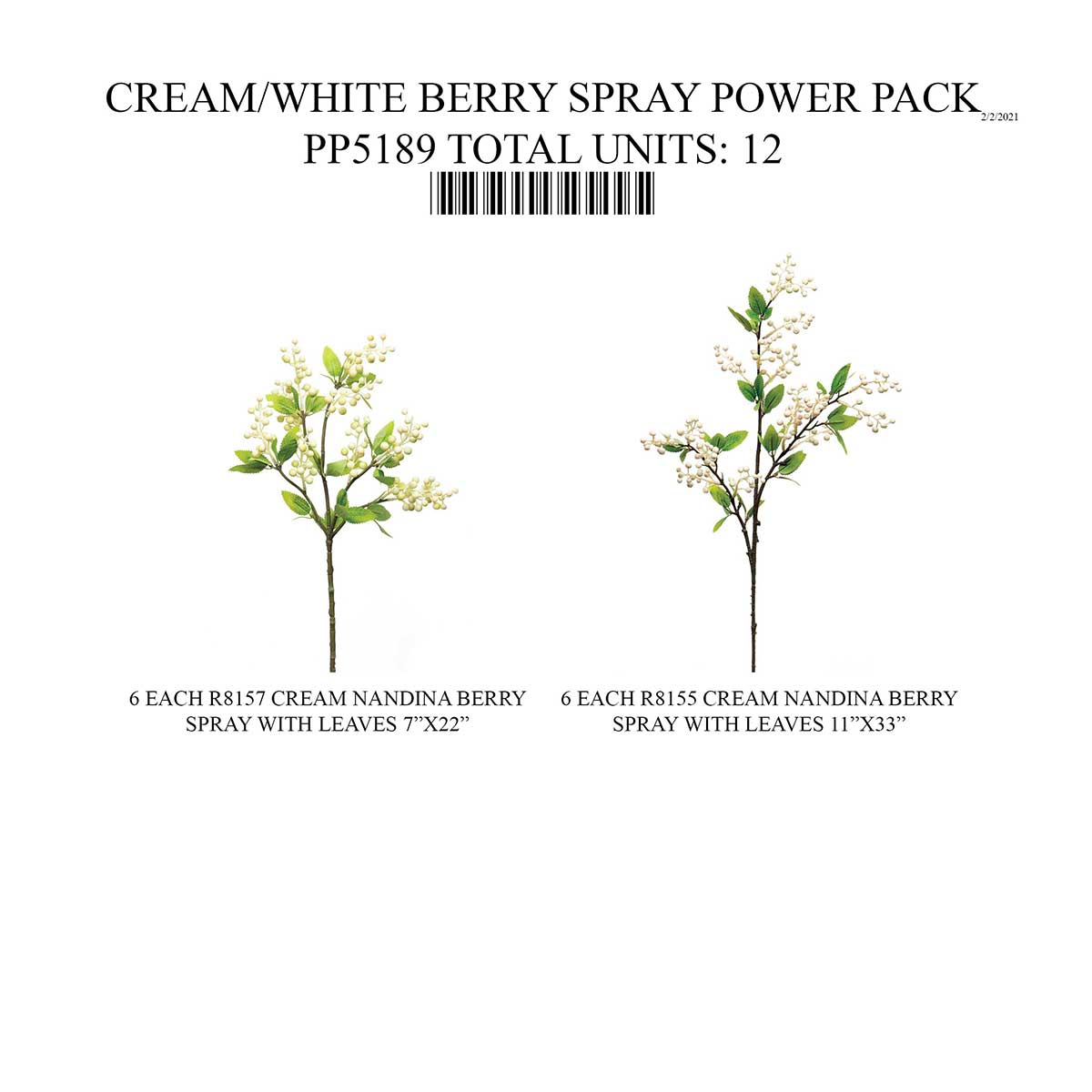 NON-POP BERRY SPRAY CREAM/WHITE 12 UNITS PP5189