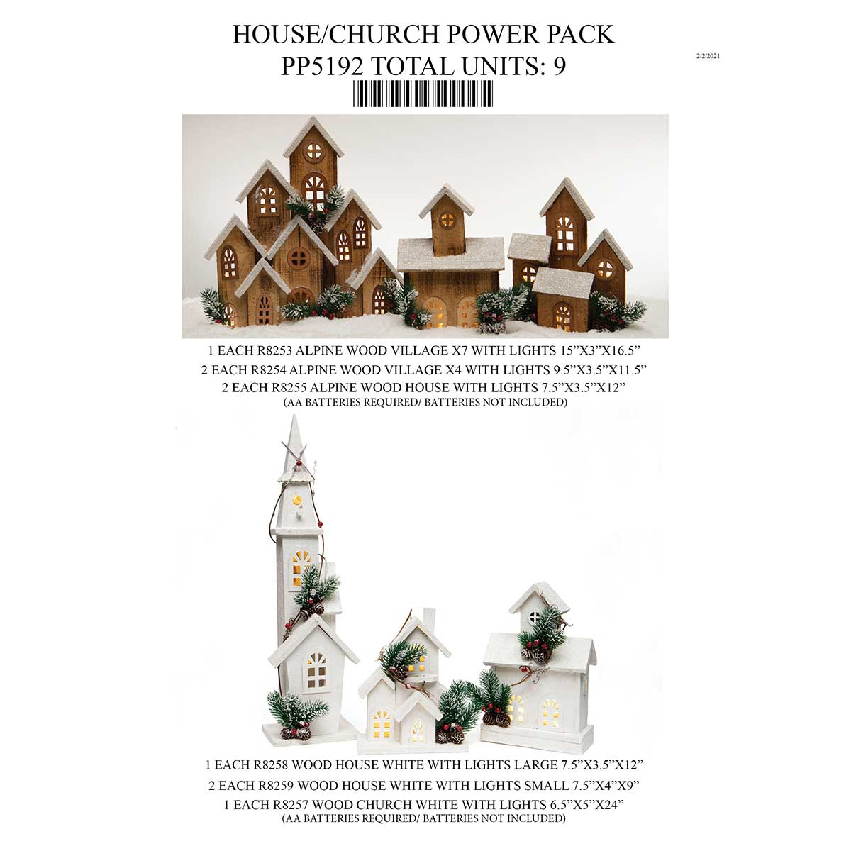 WOOD HOUSE/CHURCH POWER PACK 9 UNITS PP5192