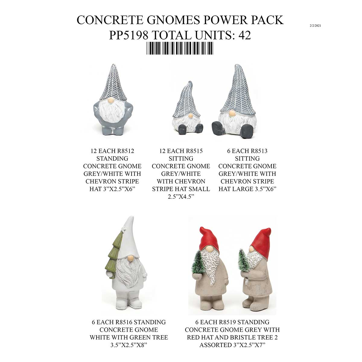 CONCRETE GNOME POWER PACK 42 UNITS PP5198