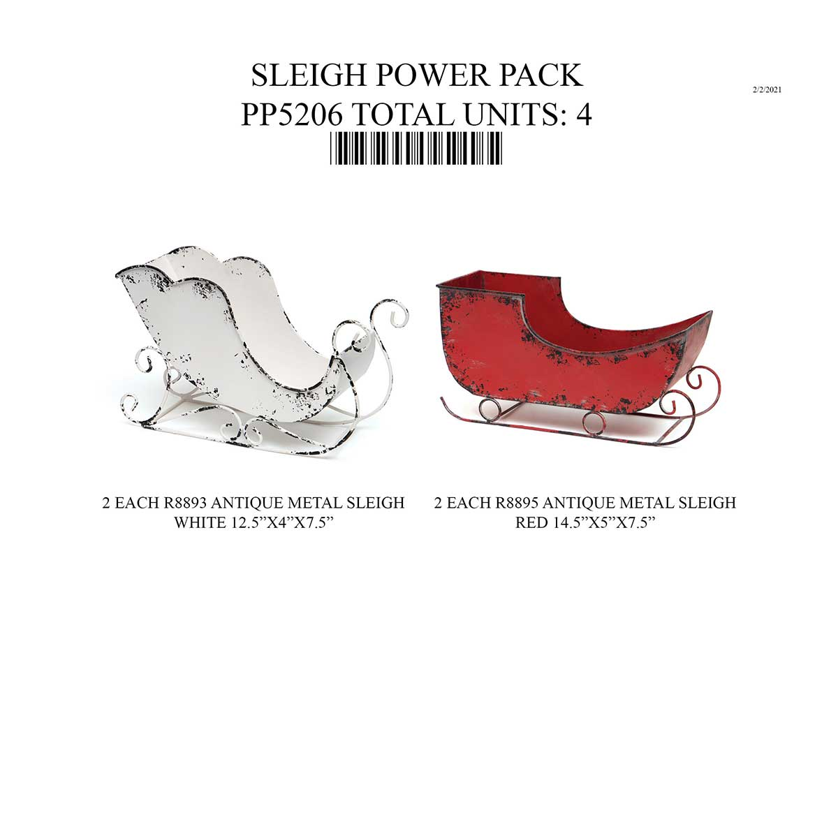 SLEIGH POWER PACK 4 UNITS PP5206