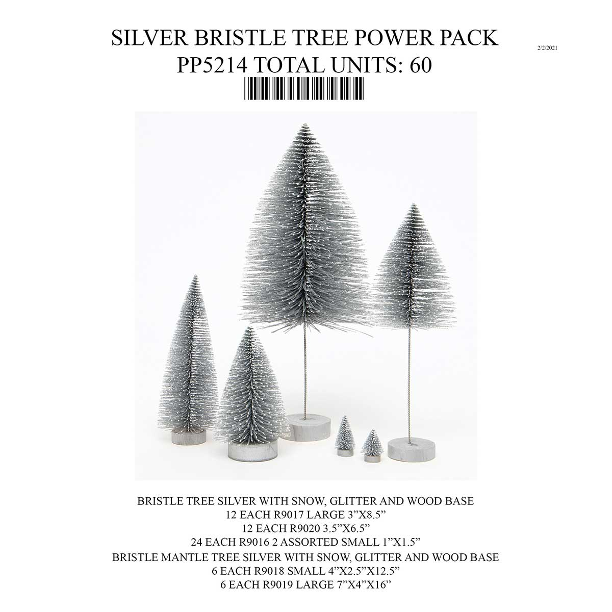 SILVER BRISTLE TREE POWER PACK PP5214 60 UNITS