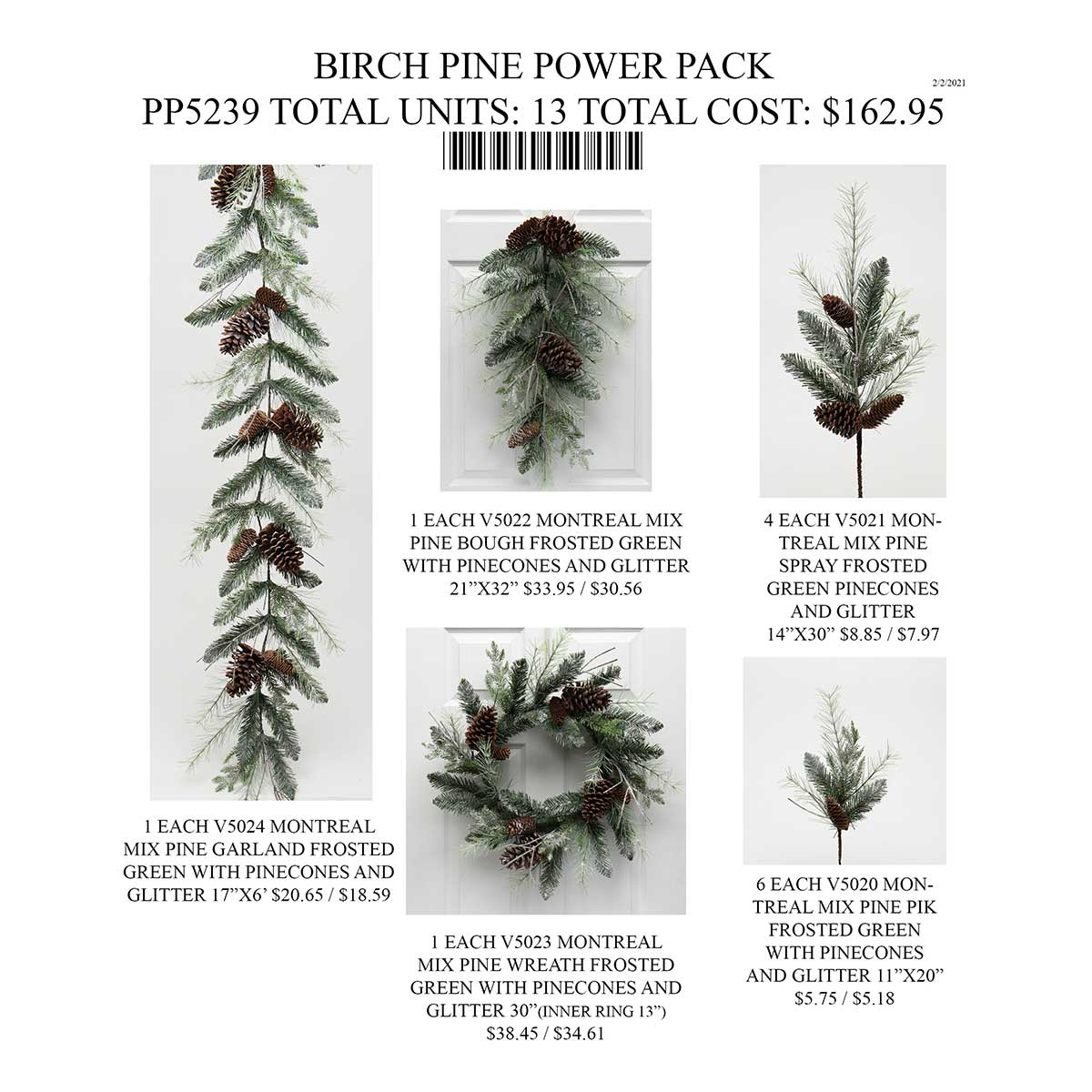 BIRCH PINE POWER PACK 13 UNITS PP5239