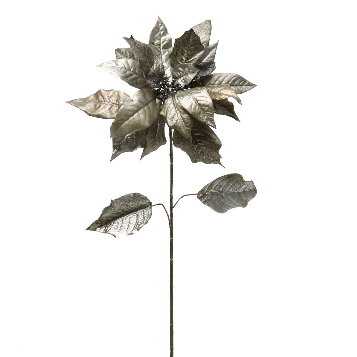 METALLIC SILK POINSETTIA PLATINUM